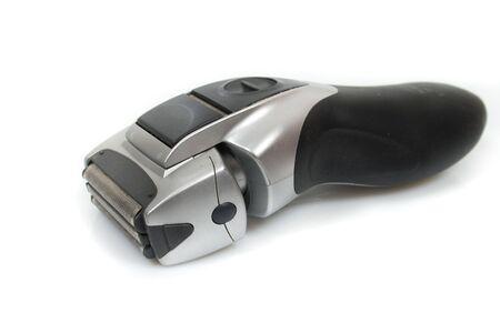 electric shaver: rasoio elettrico e tagliabasette isolata on white
