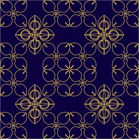 Seamless wallpaper pattern. Abstract seamless ornament pattern vector. Vintage geometric wallpaper