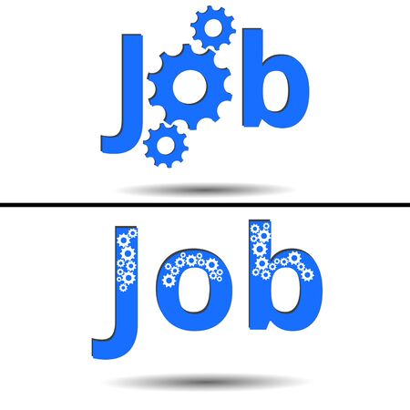 banner ads: Job. Gears. Banner ads, job search. Vacancy. Illustration