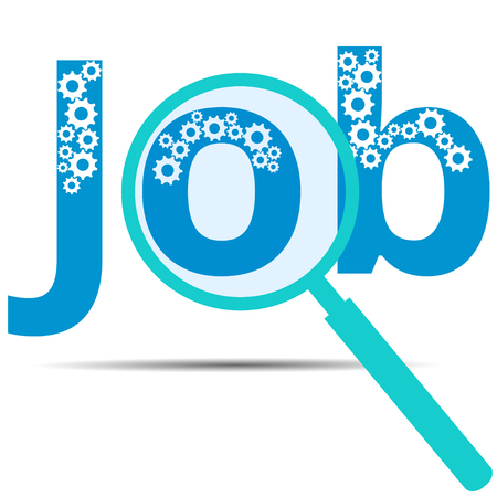 banner ads: Job. Job search. Banner ads, job search. Vacancy. Loupe