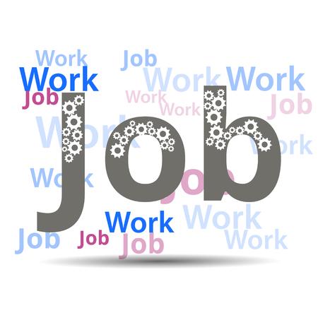 banner ads: Job. Job search. Banner ads, job search. Vacancy. Gears Illustration