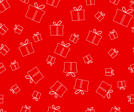 festal: Seamless pattern. The pattern of gift boxes. Festive pattern for wrapping paper. Vector illustration.