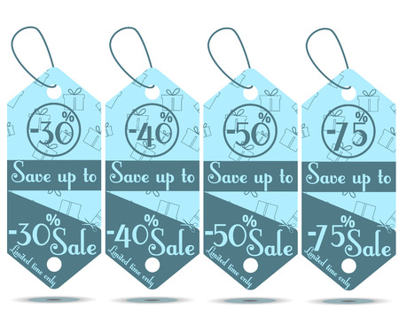Vector illustration of price tag. Sale Tags.