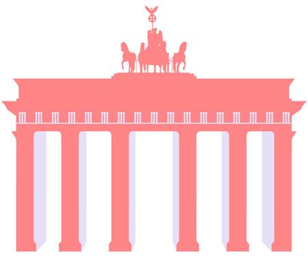 Brandenburger Tor in Berlijn. Harmonieuze kleuren.