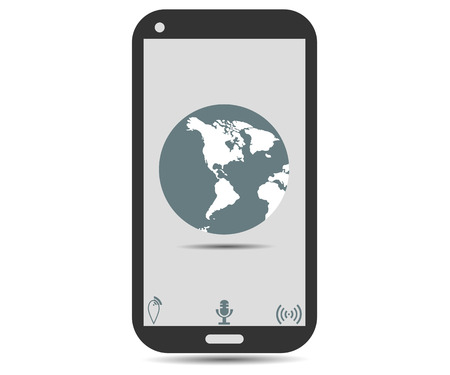 global positioning: Smartphone. Global Positioning System.