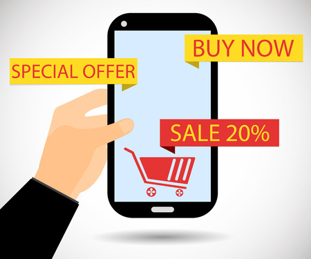 shopping sale: Online shopping. Sale of 20 percent. Cyber Monday