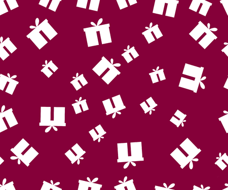 festal: Seamless pattern. The pattern of gift boxes. Festive pattern for wrapping paper.