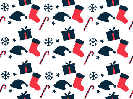festive pattern: Seamless pattern. Christmas pattern. Festive pattern for wrapping paper. Vector illustration.