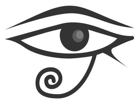 ojo de horus: Ojo egipcio de Horus. Ojo de Ra. Vectores