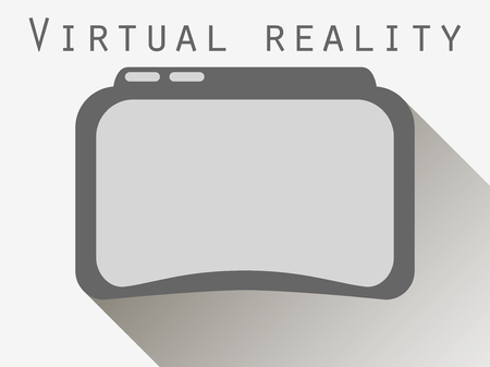 A virtual reality. Glasses virtual reality. Flat style with a long shadow.