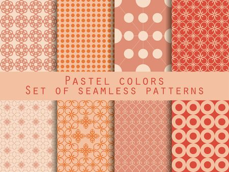 pastel shades: Geometric seamless pattern. Pastel shades. For wallpaper, bed linen, tiles, fabrics, backgrounds. Vector illustration.