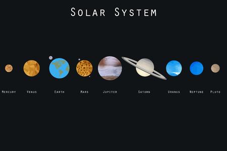 neptun: The planets of the solar system. Vector illustration. Illustration