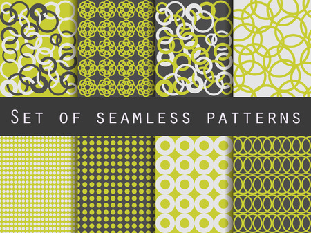 wallpaper rings: Geometric seamless patterns. Pattern with rings. The pattern for wallpaper, tiles, fabrics and designs. Vector illustration.
