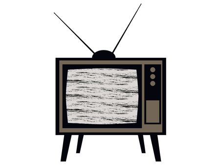 interference: Old tv. Television interference. Retro.