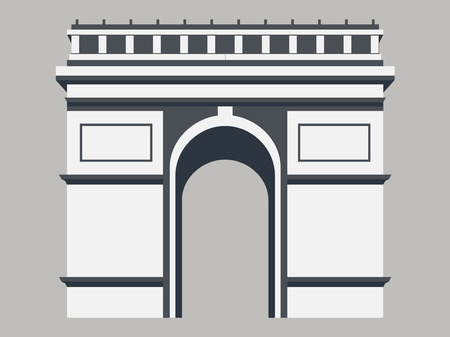 triumphal: Triumphal Arch. Paris. Vector illustration.
