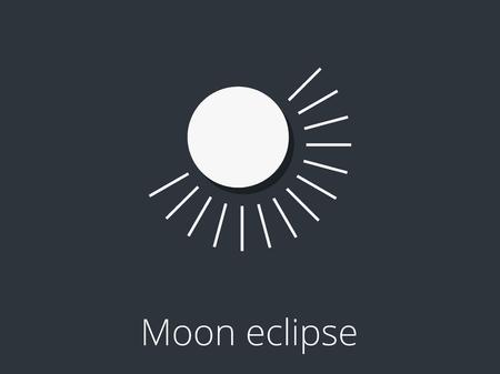 partial: Moon eclipse. Partial lunar eclipse.