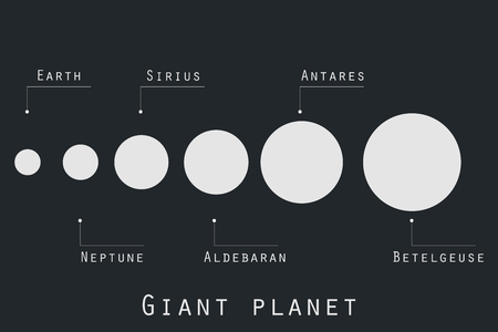cosmo: Giant planet  in original style. Planets and stars of the universe. Major planets.