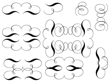 curls: Curls. Design elements. Vector.