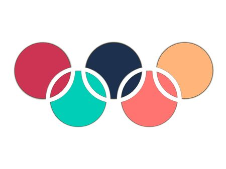 interlocking: Paper circles. Interlocking circles. 3d circles with shadow.  Vector illustration. Illustration
