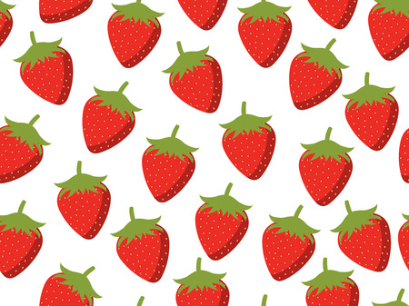 Strawberries seamless pattern. Vector background. Stock Illustratie