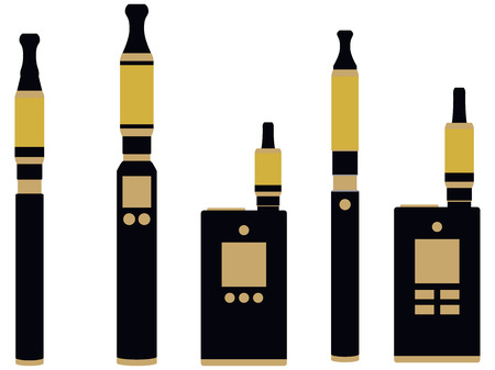 electronic cigarette: Electronic cigarette. Various types vaporizers.