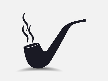 smoking pipe: Smoking pipe. Isolated on white background. Smoking tube. Vector illustration.