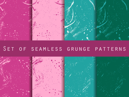 clots: Seamless pattern in grunge style. Design with clots and strokes. Vector texture. Illustration