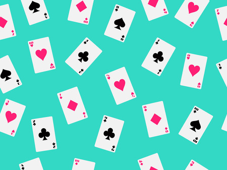 Seamless pattern with playing cards. illustration.