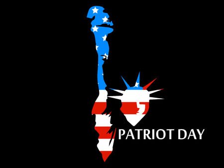 Patriot Day. Statue of Liberty in the US flag colors. Vector illustration. Illustration