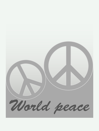 world peace: World Peace, print on t-shirt. Vector.