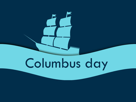 pioneers: Columbus Day, the discoverer of America Illustration