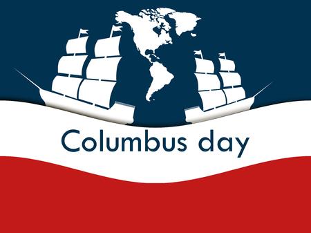 descubridor: Día de Colón, el descubridor de América Vectores