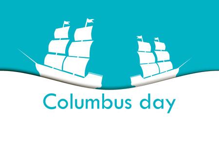 descubridor: Columbus Day, the discoverer of America Vectores