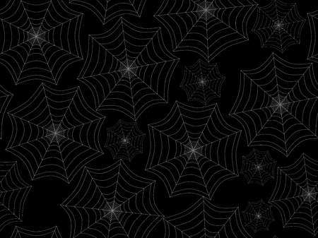 cobwebs: Seamless pattern with cobwebs. White spider web on a black background. Vector illustration.