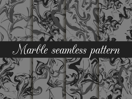 marbling: Marble seamless pattern. Hand drawn watercolor marbling. Ink marbling texture. Vector illustration. Illustration
