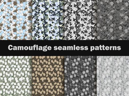 camoflage: Camouflage seamless patterns. Urban pattern camouflage. Masking, vector illustration.