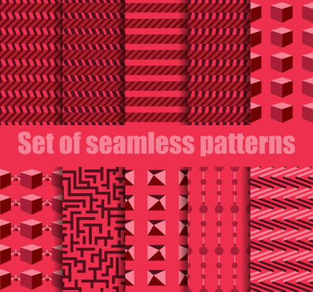 argyle: Set seamless pattern with geometric shapes. Geometric figures in the background. Vector illustration.