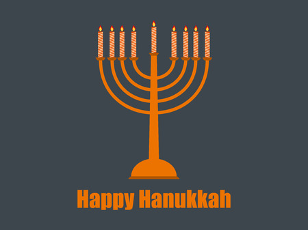 Happy hanukkah. Hanukkah candles. Vector illustration. Illustration