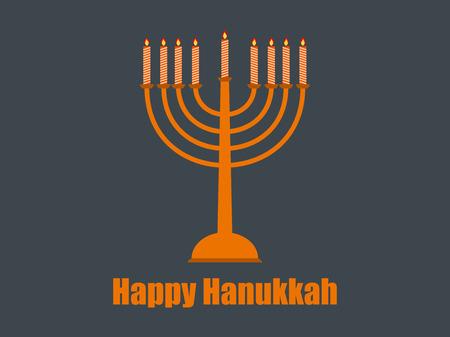 Happy hanukkah. Hanukkah candles. Vector illustration. Illustration