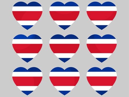 Heart with the flag of Costa Rica. I love Costa Rica. Vector illustration Illustration