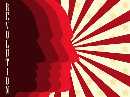 partisan: Revolution poster. Vector illustration.