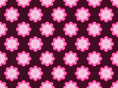 Seamless floral pattern. Flowers with petals of daisies. Vector illustration Illustration