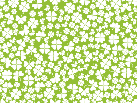 Happy St. Patricks. Clover seamless pattern. Vector illustration