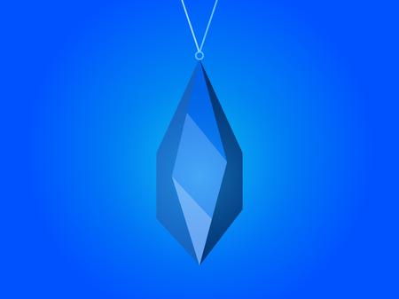 earrings: Crystal pendant, magic stone. Jewel. Vector illustration Illustration