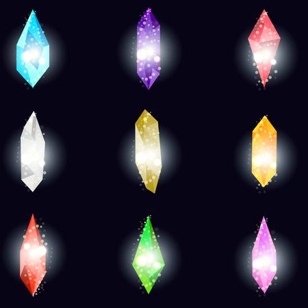 Minerals, design elements.