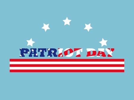 Patriot Day. Memorial day 911. Vector illustration