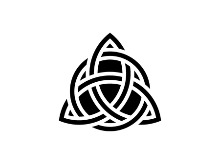 Triquetra. Trinity knot. Celtic symbol of eternity. Vector illustration