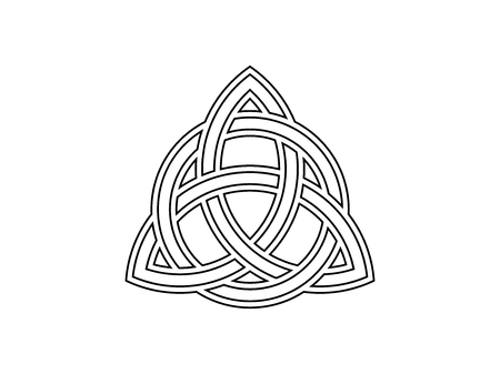 Triquetra. Trinity knot. Celtic symbol of eternity. Vector illustration