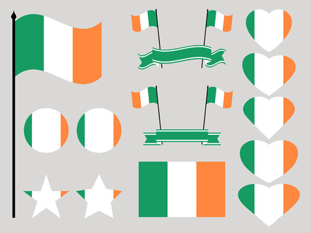 Ireland flag set.