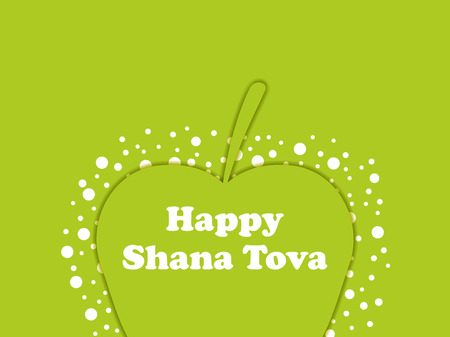 Rosh Hashanah greeting card New Year design.